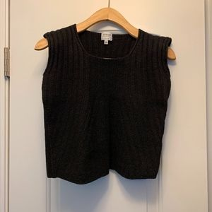 Armani Collezioni Black Crop Sleeveless Sweater